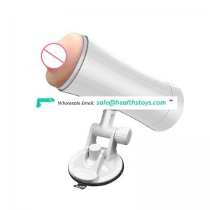 Double heads hands free pussy mouth male masturbator USB rechargeable intelligent sounds masturbation cup