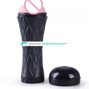 Electric Vibrating Rubber Masturbation Cup Asia Sex Products for Male