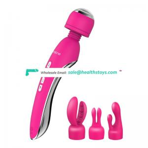 Electric shock vibrator clitoris stimulate strong vibration head wand multi function massager with wand attachment kits