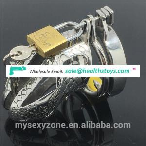 Embossed Stainless Steel Male Chastity Device Cock Cage Adult bondage Sex Game Toys