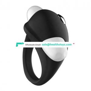 Factory price Vibrator adult Full Silicone vibrating cock ring for men couple