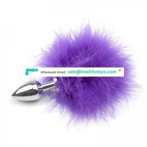 Factory price fox tail metal big/small wearable anal plug men/women