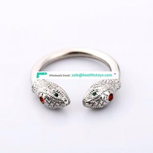 Fashion new Private Design snake penis Ring Snake head style Metal Male chastity device Male sex toys