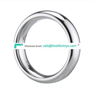 Fashion stainless steel cock scrotum ring for men