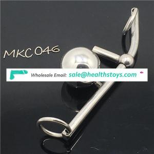 Female Chastity Belt Steel Butt Plug Penis Plug Bondage Harness Metal Bondage Female Chastity Belts female chastity ball C046