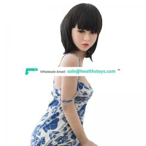 Flat chested young movable 140cm tpe real sex doll