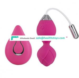 Flower app remote controlled kegel ball vagina tightening exercise ball for women