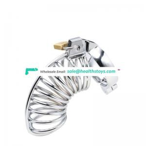 Full cover Love stainless steel male chastity cage device