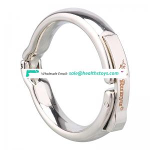 Gold silver color alumin alloy foreskin resistance ring penis cock ring