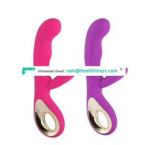 Happy wave design G Spot rechargeable double vibrator toy