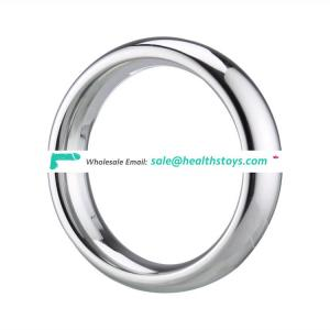 Heavy duty male enhancement silver penis ring stainless steel delay ejaculation penis cock ring