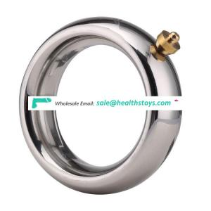 Heavy stainless steel electric shock ring device permanent magnet cock ring for male