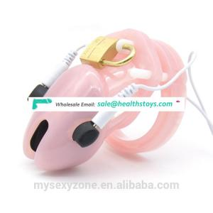 Hot Pink color silicone penis chastity cage cock sex toys for men chastity cage