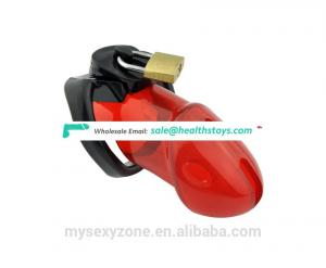 Hot Plastic Male Lockable Cage Chastity Device Cock Cage Adult Male Sex Toys with 3 size rings