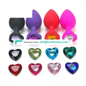 Hot sale anal sex toy Soft silicone jewelry Butt plug Anal plug sex anal for couples adults men