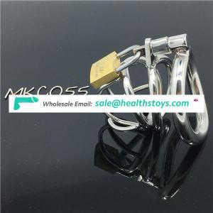 Hot selling Male Chastity device Adult Cock Cage With Curve Cock Ring Urethral Catheter BDSM Chastity Cock cage C055