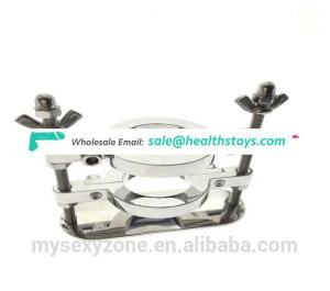 Latest Double Stainless steel Scrotum Ball Stretcher ,Ball Splitter with Crusher
