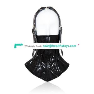 Leather Bdsm Adult sex Half face mask sex toy