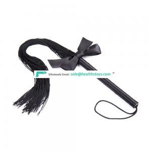Leather Whips with Bow Tie For Couples Role Play, Bondage fun