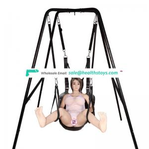 Leather hanging love swing sex adult sex furniture for couples