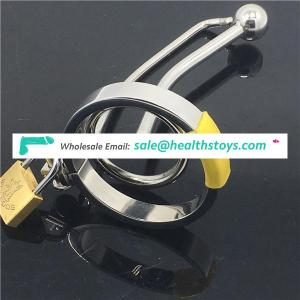 Lock Small Male Chastity Devices With Urethral Sound Catheter Adult Sex Toys For Men 65MM length Adult Game BDSM CBT Fetish C039