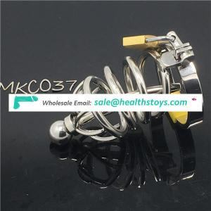 Lockable Penis Lock Stainless Steel Men Chastity Chastity Device Cock Cage Belt Adult Game BDSM CBT Fetish C037