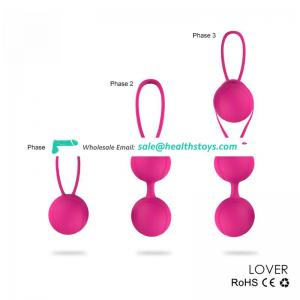 Lover tennis shape stress kegel balls for vagina exercise masturbation ball