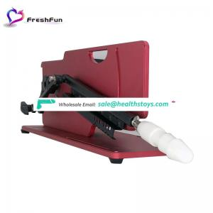 Lowest price RF remote control Adjustable speed Unique shape masturbator sex machine gun for adult