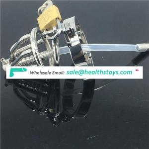 Male Chastity Device Reins Lock With Cock Ring Urethral Catheter BDSM Sex Toys BDSM CBT Fetish
