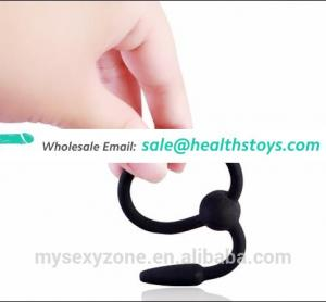 Male Urethral Dilators Silicone Cock Penis Plug with Glans Ring Prince Wand sex toys
