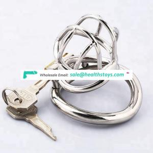 Male chastity lock stainless steel male chastity device metal small cock cage