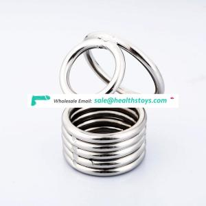 Male steel sex toys cock cage ring for men chastity device