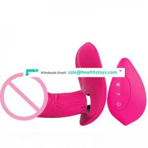 Medical Silicone Invisible Wearable Heating Dildo Vibrator for Woman
