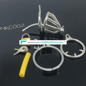 Medical Stainless Steel Small Male Chastity Device Adult BDSM Cock Cage