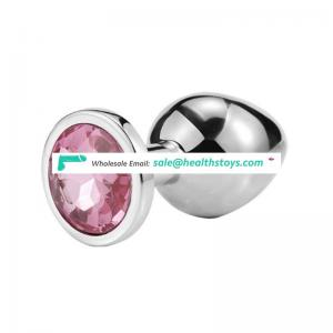 Metal Anal Butt Plug Unisex Sophisticated Sexy Anal Toys Stainless Steel Crystal Jewelry chastity anal plug for adults couples