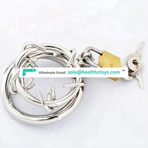 Metal Male Bondage Sex Toys Penis Ring Weighted Cock Ring