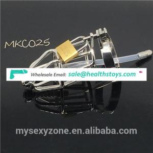 Metal Male chastity device BDSM Cock cage Sex Toys with Urethral Dilators penis ring