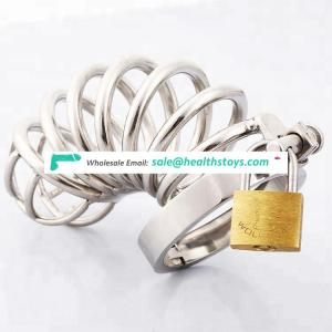 Metal chastity cage penis lock cage for male sex toy