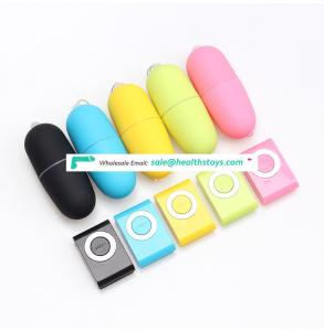 Mp3 vibrating egg 20 frequency wireless remote control remote control female adult products