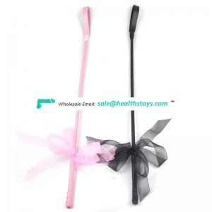 New Arrival Deluxe PU Leather Riding Crop Whip, Spanking Crop Whip Black Leather Spanker Products