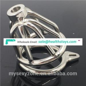 New Design Metal Male Sex toys Chastity Device Short Chastity Cock Cage