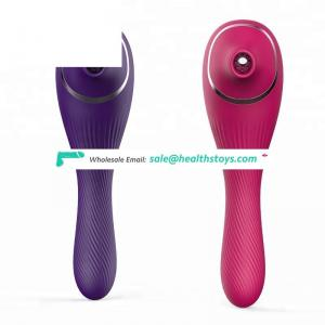 New Silicone USB rechargeable double sucker nipple breast Vagina 5 modes vibration for female