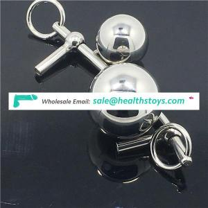 New Stainless Steel Double Ball Female Chastity Belt Anal Plug Vaginal Butt Plug Chastity Devices Female Chastity Sex Toys C047