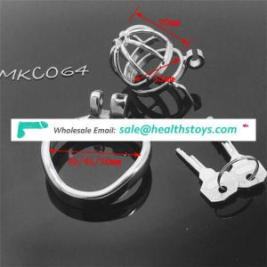 New Stainless Steel Super Small Male Chastity device Adult Cock Cage With Curve Cock Ring BDSM Sex Toys Chastity Belt