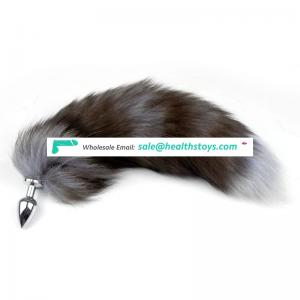 New Style Multi-Function Glowing Fox Tail Metal Plug Sexy Adult Toy