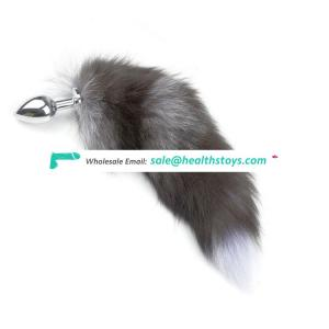 New Style Multi-Function Metal Feather Anal Toys Fox Tail Anal Plug