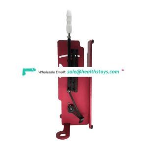 Newest design Factory price Red quiet running Compartable all simulated penis sex machine for women masturbation