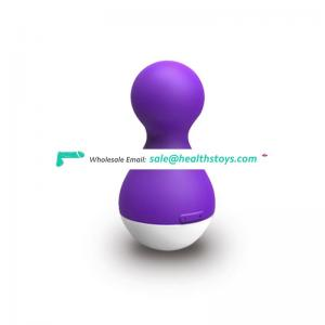 Nifty rechargeable breast massager double ball silicone vibrator sex toy