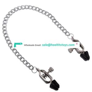 Nipple clamps sex toy with chain steel nipple clip for woman