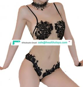 Nude Lace Transparent Lingerie set Sexy Erotic underwear High quality Bodysuit